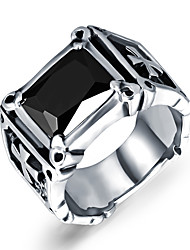 cheap -Men's Band Ring - Titanium Steel Cross Personalized, Vintage, Punk 7 / 9 / 10 Silver / Black For Christmas Gifts / Wedding / Party