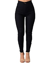 cheap -Women's Patchwork Slim High Rise Elasticity Skinny Pants Casual / Street chic