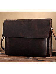cheap -Men Bags Cowhide leatherette Zipper for Casual Formal Summer All Seasons Coffee
