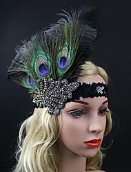 abordables -rhinestone plumas flores tocado estilo femenino clásico