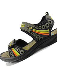 cheap -Boy's Sandals Spring / Summer Comfort PU Casual Flat Heel Magic Tape Brown / Green / Gray Sneaker