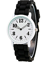 Women's Fashion Simple Casual Quartz Watch Silicone Belt Multi-colored Number Cool Watch Unique Watch