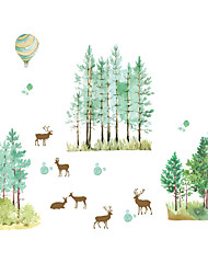 Animali / Botanica / Natale Adesivi murali Adesivi aereo da parete Adesivi decorativi da parete,PVC MaterialeLavabile / Rimovibile /