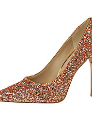 preiswerte -Damen-High Heels-Büro Kleid Lässig-PU-Stöckelabsatz-T-Riemen Club-Schuhe Leuchtende LED-Schuhe-