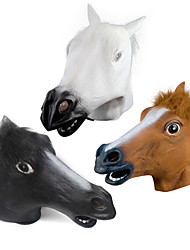 halloween novità creepy gomma animale mane cavallo testa maschera testa masquerade maschera cosplay mask party costume prop