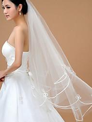 velos de dedo de velo de novia de una sola capa con accesorios de boda de tul