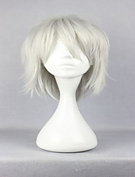 abordables -Pelucas sintéticas / Pelucas de Broma Rizado Pelo sintético Blanco Peluca Mujer Sin Tapa