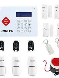 cheap -Wireless RFID Alarm System GSM Burglar Intruder Home Security Kit with Touch LCD Voice Doorbell IOS Android Control