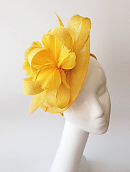 Kentucky Derby Church Races Yellow Flax Wedding Event Fascinator