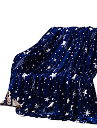 bedtoppings ricoprono flanella corallo pile queen size 200x230cm stampe dark star 210 gsm