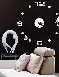 baratos -Moderno/Contemporâneo / Escritório/Negócio Casas / Família / Escola/Graduação / Amigos Relógio de parede,Redonda Acrilico / Vido