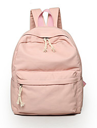 Women Bags All Seasons Canvas Backpack for Casual Outdoor Gray Green Blue Blushing Pink Khaki