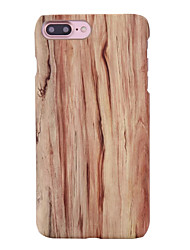 cheap -Case For Apple iPhone 5 Case iPhone 6 iPhone 6 Plus Pattern Back Cover Wood Grain Hard PC for iPhone 6s Plus iPhone 6s iPhone 6 Plus