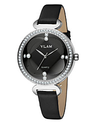 cheap -Vilam Women's Wrist Watch Water Resistant / Water Proof Leather Band Luxury / Sparkle / Fashion White