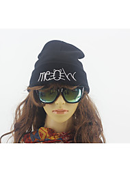 2016 Hot Beanie New Style MEOW Cat Hat Hip Hop Acrylic Knit Winter Hats For Women Men 4 Colors