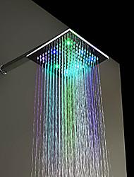 Contemporaneo Doccia a pioggia Cromo caratteristica for  LED / Effetto pioggia , Soffione doccia