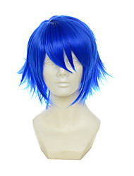 cheap -Synthetic Wig / Cosplay & Costume Wigs Straight With Bangs Synthetic Hair Blue Wig Women's Short Capless