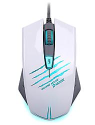 mouse-ul jocuri 4000dpi ergonomic programabil pentru jocuri multimedia, mouse-ul cu fir cu 3 culori personalizate de lumină de respirație