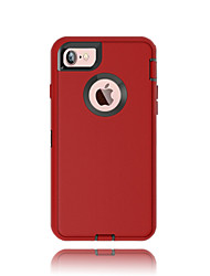 For iPhone X iPhone 8 iPhone 7 iPhone 7 Plus Case Cover Water/Dirt/Shock Proof with Windows Full Body Case Solid Color Hard PC for Apple
