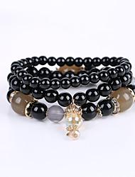 Homme Femme Fille Bracelet Bracelets de rive Fait à la main Perlé Acrylique Résine Alliage Bijoux Pour Mariage
