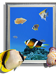 3D Wall Stickers Marine Fish Hole PVC Material Decorative Skin Wall Stickers