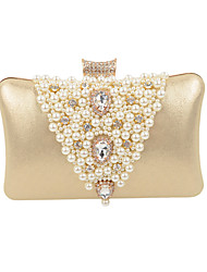 cheap -Women's Bags leatherette Evening Bag Beading / Pearl / Imitation Pearl for Wedding / Event / Party / Formal Silver / Purple / Golden