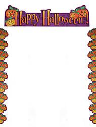 Недорогие -1шт Халоуин декора новизны подарка Террористические украшения наряжаются двери аксессуары тыква куплет