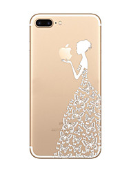 economico -Per iPhone 8 iPhone 8 Plus iPhone 7 iPhone 6 Custodia iPhone 5 Custodie cover Ultra sottile Transparente Fantasia/disegno Custodia