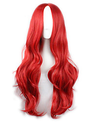 cheap -Hot Selling Red Color Synthetic Cheap Cosplay Wigs For Women Party Wig