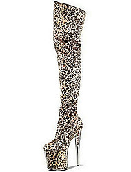 cheap -2018 Foreign Trade Explosion Sexy Knee Boots / Ultra high heel for Leopard / Fashion Party Wild beauty / Animal Print