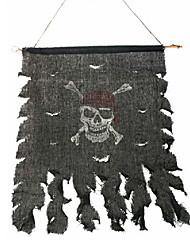 Недорогие -1шт Хэллоуин мяч для партии декора дар костюм партии проп новизны украшения череп и скрещенные кости пиратский флаг