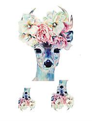 Недорогие -Non Toxic / Waterproof / Рождество Корпус / руки / рука Временные татуировки 1 pcs Тату с животными Искусство тела