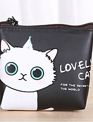 cheap -Cartoon Cat Pattern PU Leather Change Purse