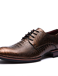 Men's Oxfords Spring / Summer / Fall / Winter  Cowhide Office & Career / Party & Evening / Casual Flat Heel Lace-upBlack / Taupe /
