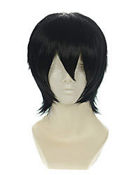 cheap -Death Note Zaizen Hikaru Kylin Zhang Black All-purpose Upturned Short Halloween Wig Synthetic Wig Costume Wigs