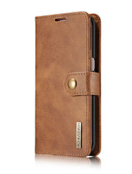 cheap -Case For Apple iPhone X iPhone 8 iPhone 6 iPhone 7 Plus iPhone 7 Card Holder Wallet Full Body Cases Solid Color Hard Genuine Leather for