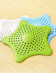 cheap -Bathroom Hair Filter Starfish Floor Drain Kitchen Sink Bathtub Sewer Hair Stopper (Random Colours)