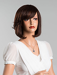 abordables -élégant charme bob soyeux droites perruques capless de haute qualité de cheveux humains