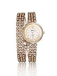 economico -Da donna Orologio alla moda Orologio braccialetto Quarzo Resistente all'acqua Lega Banda Ciondolo Casual classe Oro Oro