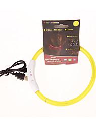 Cachorro Colarinho Estroboscópio Sólido Amarelo Vermelho Verde Azul Rosa claro