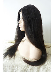 cheap -Synthetic Lace Front Wig Straight Synthetic Hair Heat Resistant / Glueless Black Wig Natural Wigs / Halloween Wig / Carnival Wig Lace
