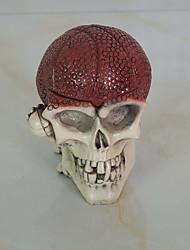 Недорогие -1шт Хэллоуин реквизита танцы украшения скелет головы пепельница украшения