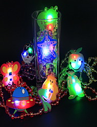LED Lighting Light Up Toys Toys Necklace Lighting PVC Kids Pieces