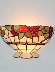 30cm Retro Country Tiffany Wall Lights Glass Shade Living Room Bedroom Restaurant Cafe Bar Wall Sconces