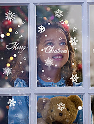 cheap -Merry Christmas Snowflake Flowers Wall Stickers