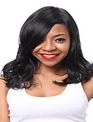 Ženy Černá Vlnité Umělé vlasy Bez krytky Přírodní paruka paruky