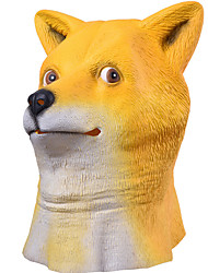cheap -Halloween Masks Animal Mask Toys Shiba Inu Dog Head Latex Rubber Horror 1 Pieces Halloween Masquerade Gift