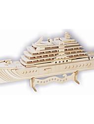 Quebra-cabeças Quebra-Cabeças de Madeira Blocos de construção DIY Brinquedos Arquitetura chinesa / Navio 1 Madeira Ivory