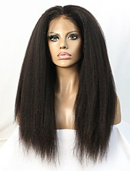 cheap -Human Hair Wig Straight kinky Straight 130% 150% Density 100% Hand Tied African American Wig Natural Hairline Short Medium Long Women's