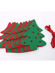 флаги 2,2 м лосей чувствовал Рождественский венок флаг баннер украшения рождества окна украшения партии реквизит